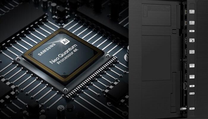 Samsung QN90A - коммутация